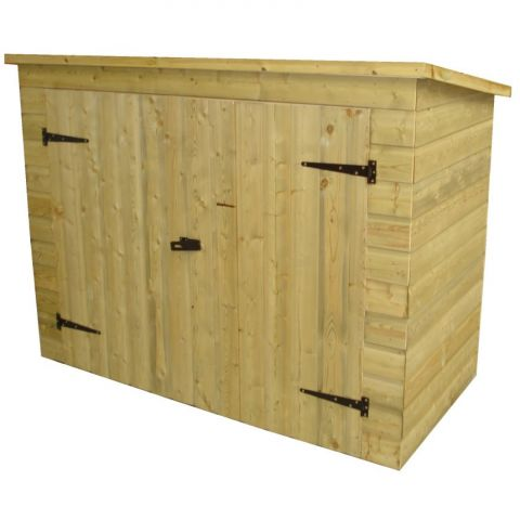 pent roof bike shed