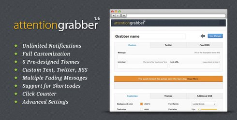 attention grabber plugin