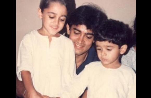 14. Imran Khan with Aamir Khan.