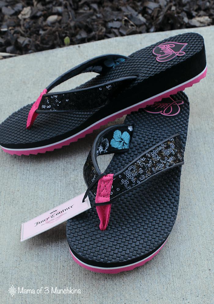 Juicy Couture Women's Sequin Wedge Sandals