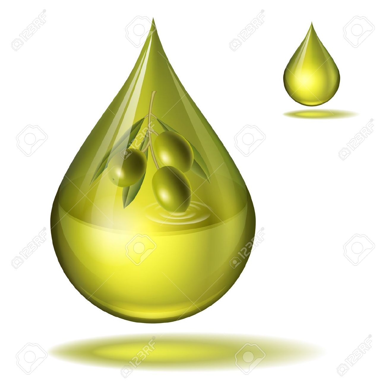 19155990-drop-of-olive-oil-with-olives-inside-Stock-Vector