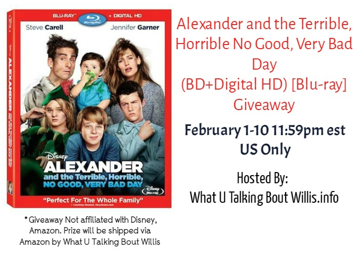 Alexander's Very Bad Day Blu-ray Giveaway
