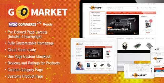 gomarket WordPress ecommerce theme