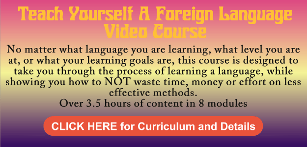 Teach Yourself A Foreign Language Video Course