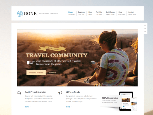 gone buddypress theme