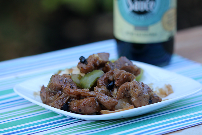 Spareribs w/ Black Bean Garlic Sauce Over Rice