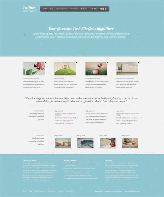 feather-wordpress-feminine-theme