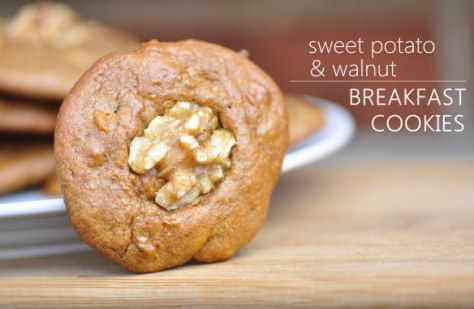Sweet Potato and Walnut Breakfast Cookies