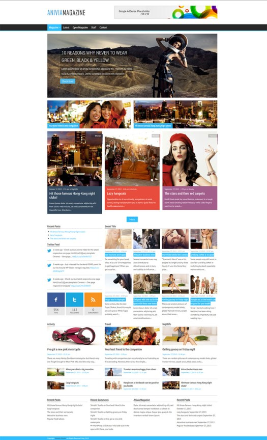 WordPress magazine theme women