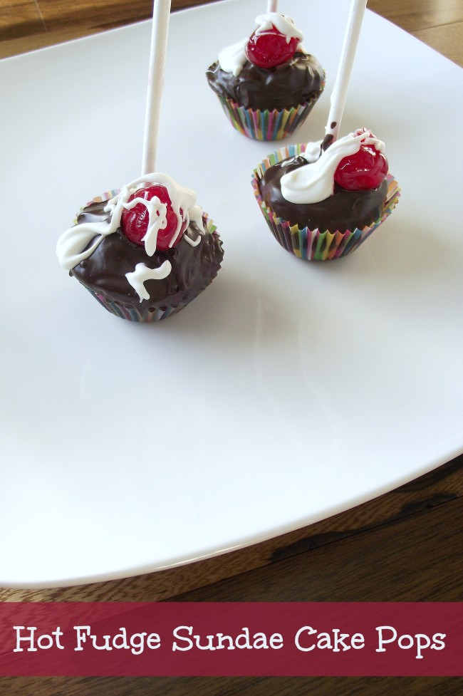 Hot Fudge Sundae Cake Pops