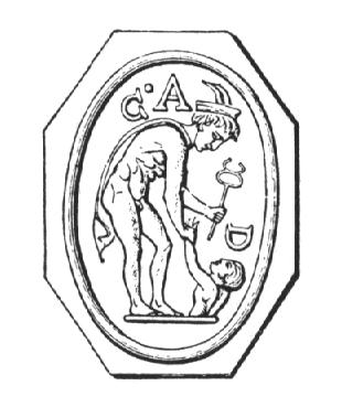 Asclepius resurrecting a soul from the underworld.