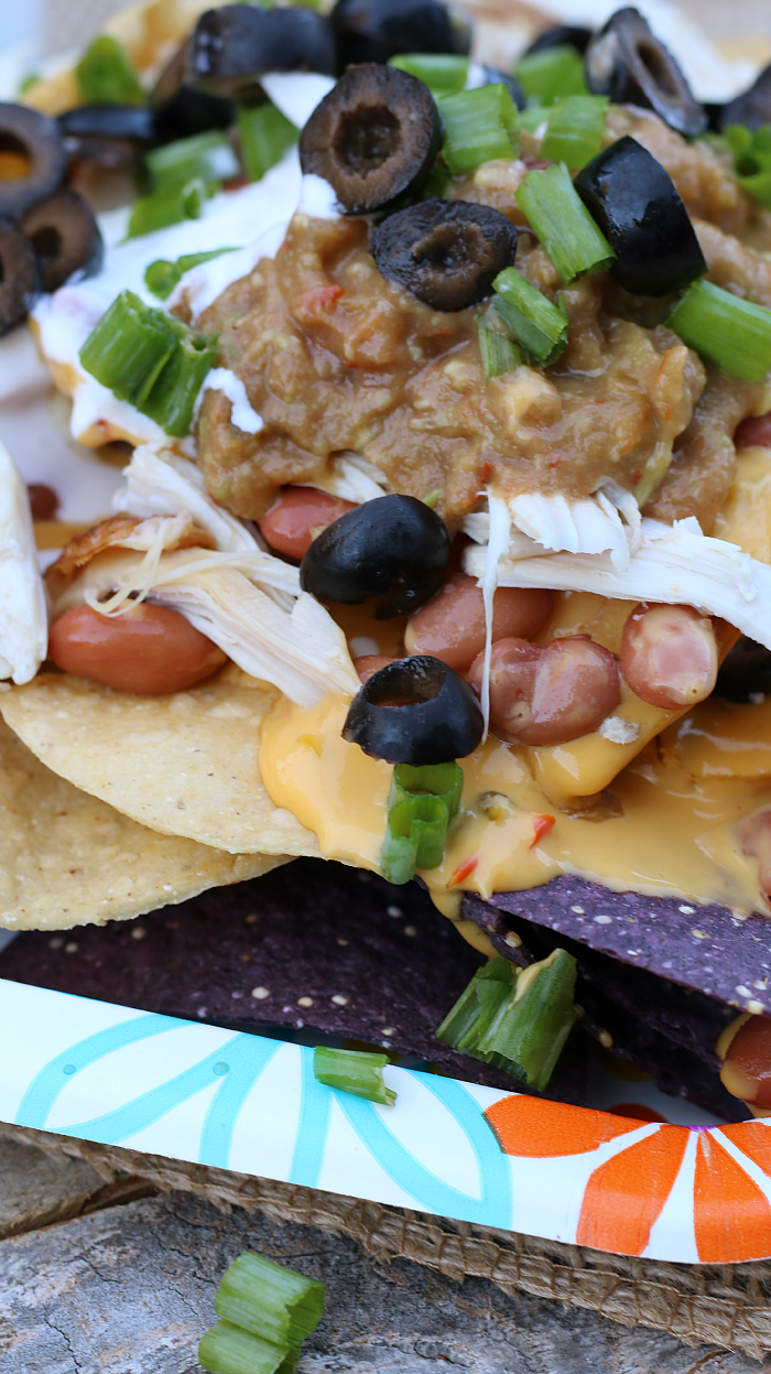 Rotisserie Chicken Nachos with SalsaMole