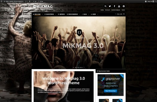 mikmag wordpress magazine theme
