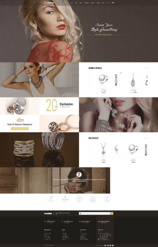 harvest wordpress jewelry store woocommerce theme