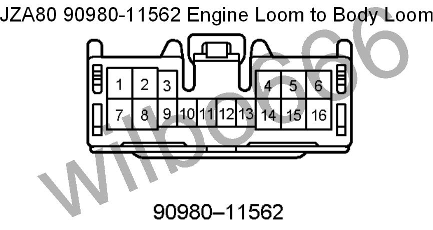 2JZ-GE to JZA80 Engine wiring