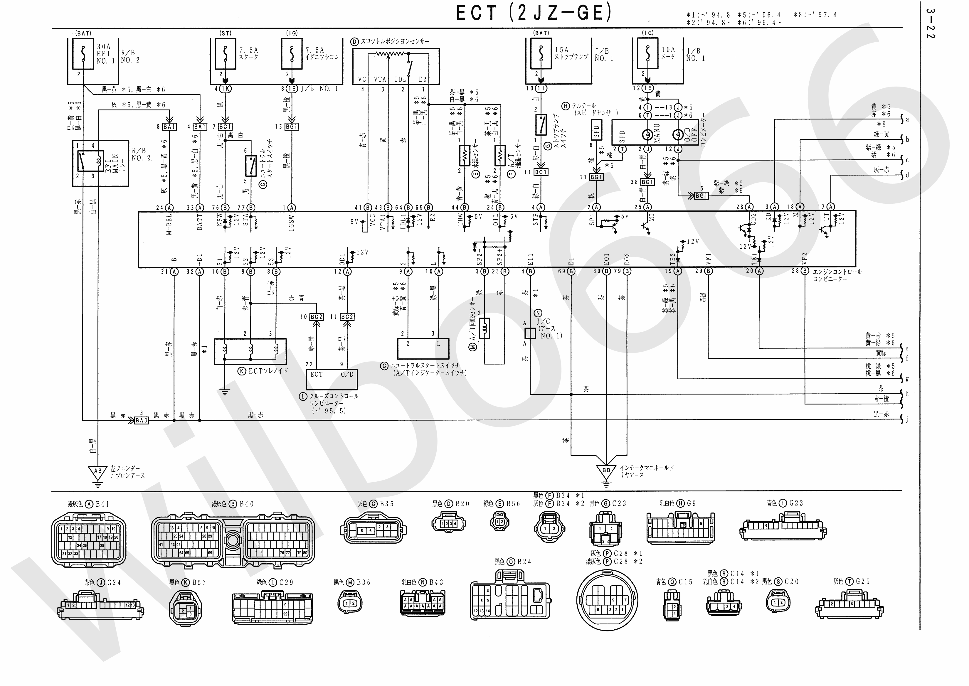 2JZ-GE to JZA80 Engine wiring