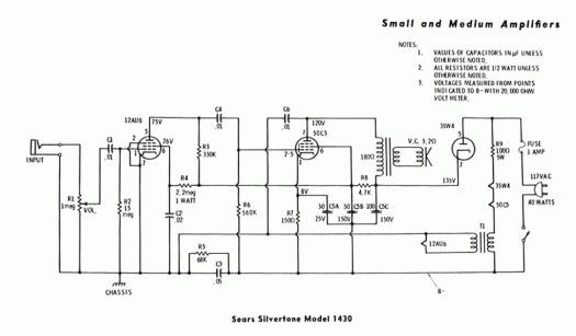 Silvertone 1430 Schematic