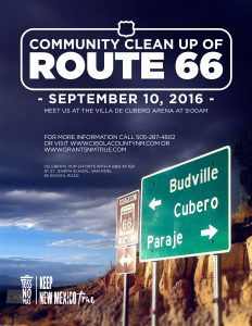 2016 COMMUNITY CLEANUP Flyer