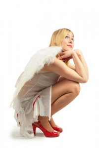 Angel in Red Shoes