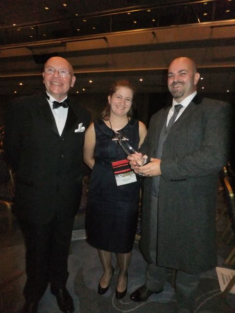 With Stan Nicholls, author, part organizer of the awards and all-round top bloke, and Julie Crisp, my lovely editor at Tor UK.
