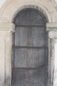 St Botolph's Anglo-Saxon door. Exterior view