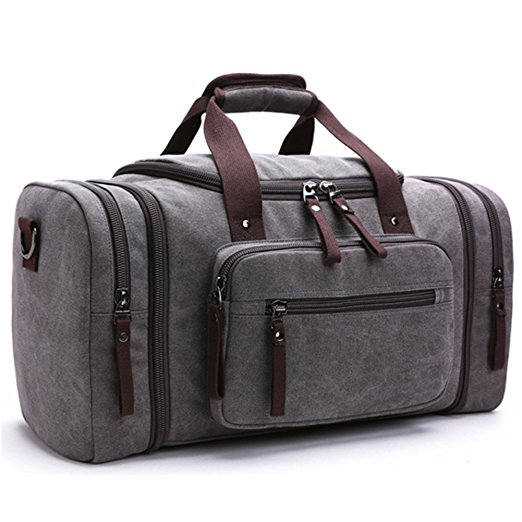 Toupons 20.8'' Large Canvas Travel Tote