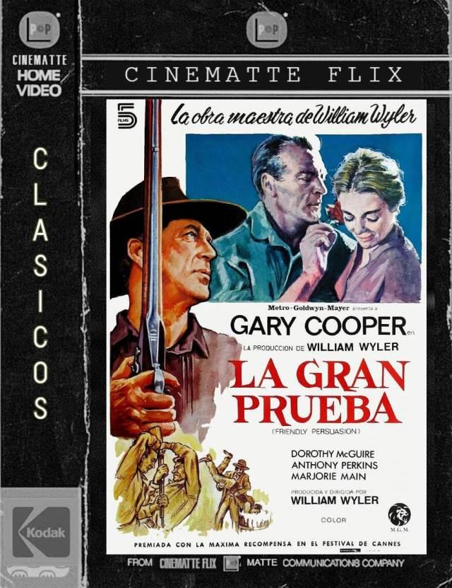 Friendly Persuasion, conocida en idioma castellano como La gran tentación en Chile, y La gran prueba en España, es una película estadounidense dirigida por William Wyler. Ganadora de la Palma de Oro en el Festival de Cine de Cannes en 1957. Mezcla la comedia y el drama en un marco de western.