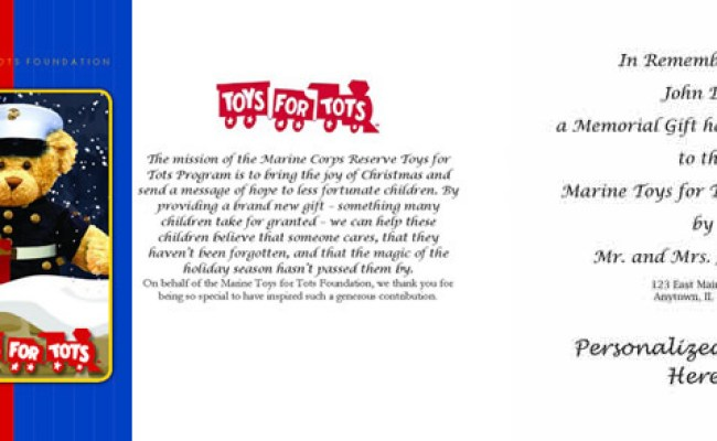 Marine Toys For Tots Foundation Make A Tribute Donate