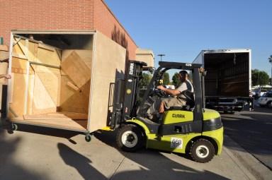Nutcracker Box being loaded into truck