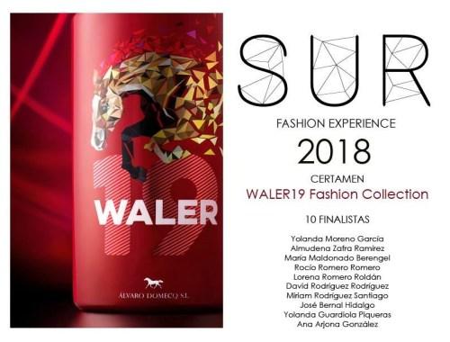 finalistas en la primera edición del certamen waler19 fashion collection de la sur fashion experience 2018