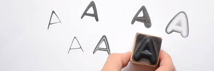 INSTAMPはユーザーに圧力を通して文字の書式バリエーションをコントロールさせます