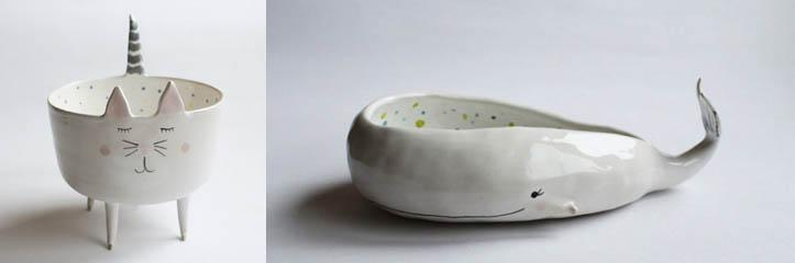 動物の形をした食器 by Marta Turowska