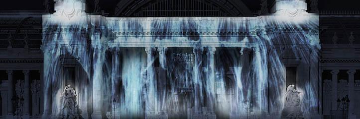 デジタル滝といっそう素晴らしいプロジェクトがアートパリス2015年でGrand Palaisを変えます