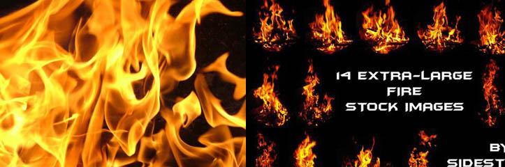 Photoshopアーティストのための炎の背景とテクスチャ