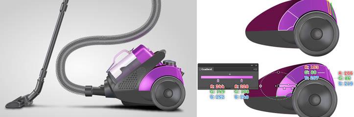 Adobe Illustratorで掃除機を作る方法