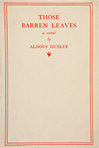 'Those Barren Leaves' by Aldous Huxley book cover