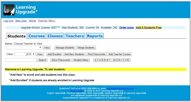 Teacher-Menu