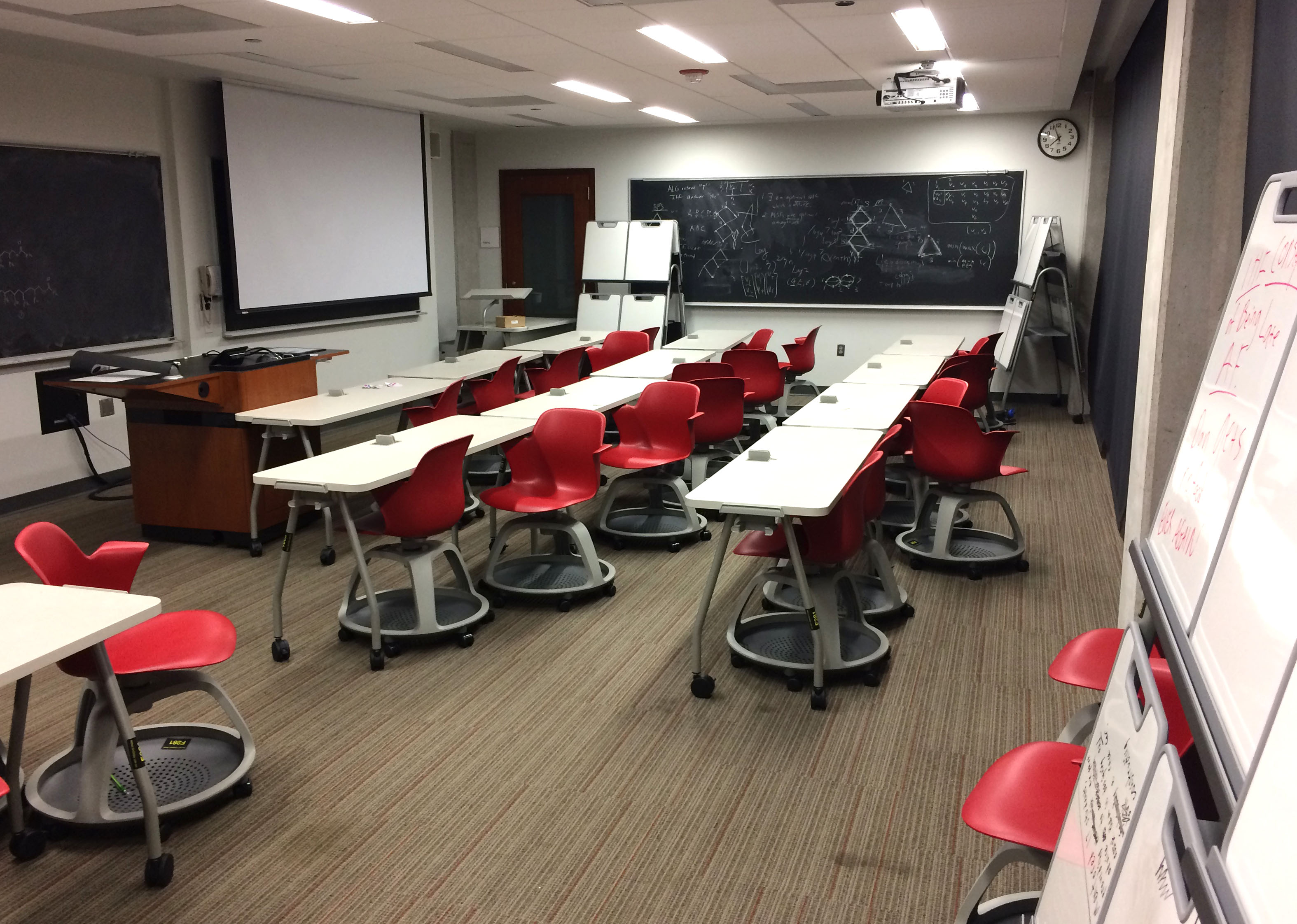 steelcase classroom chairs lowes outside newly furnished f281 active learning the