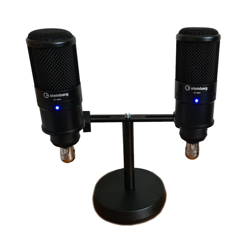 2 Steinberg-Mikrofon ST-M01 auf einem Tischstativ