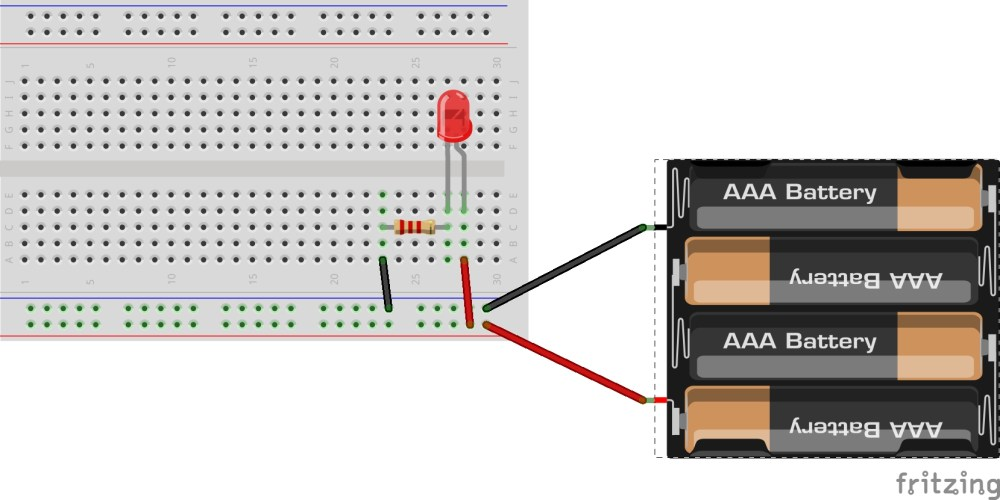medium resolution of hint breadboard and schematic diagrams for parallel led circuit