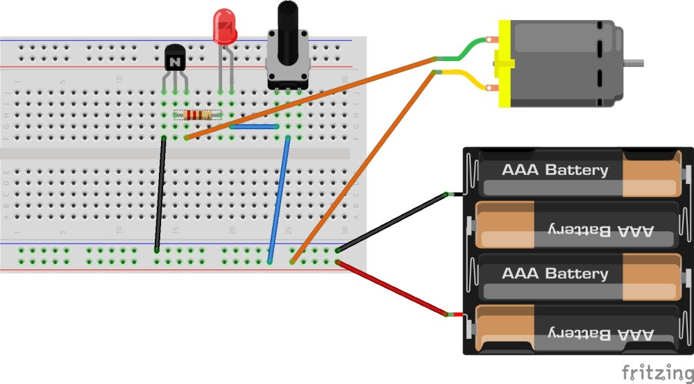 medium resolution of hint breadboard and schematic diagrams for analog potentiometer interface