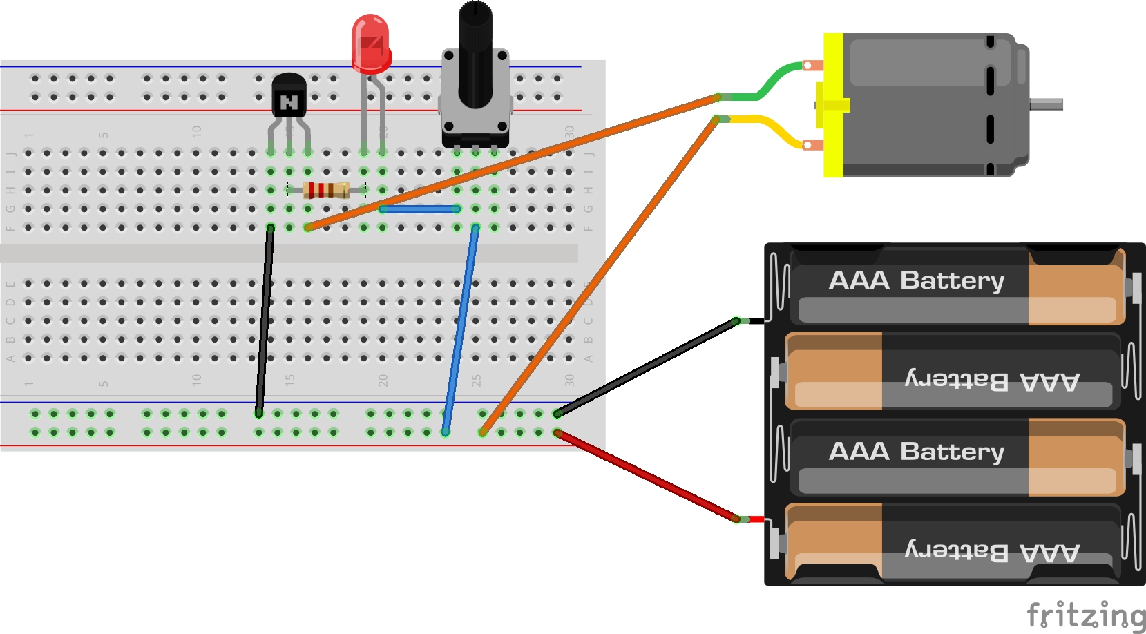 hight resolution of hint breadboard and schematic diagrams for analog potentiometer interface