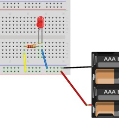 hint breadboard and schematic diagrams for parallel led circuit [ 1587 x 957 Pixel ]