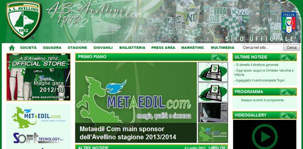 Nuovo restyling del sito web dell'A.S. Avellino