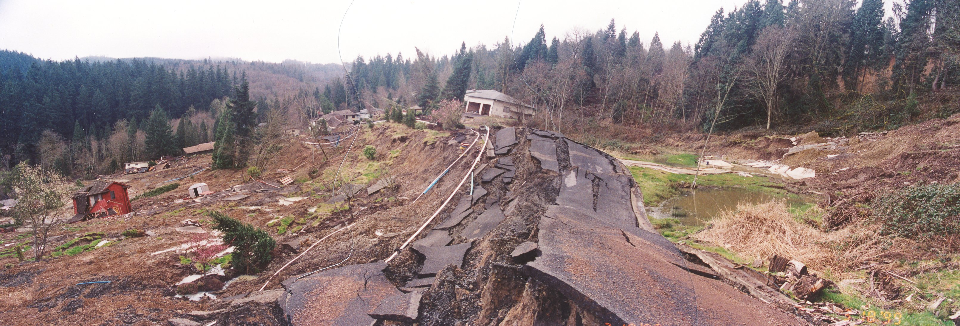 Photo of landslide damage