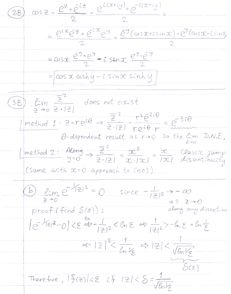 Math 332-001, Introduction to Complex Variables, Fall 2009
