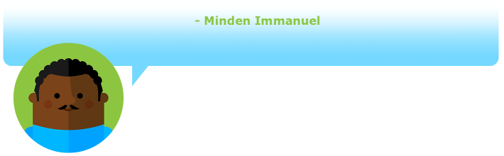 Gaining wealth of knowledge - Minden Immanuel
