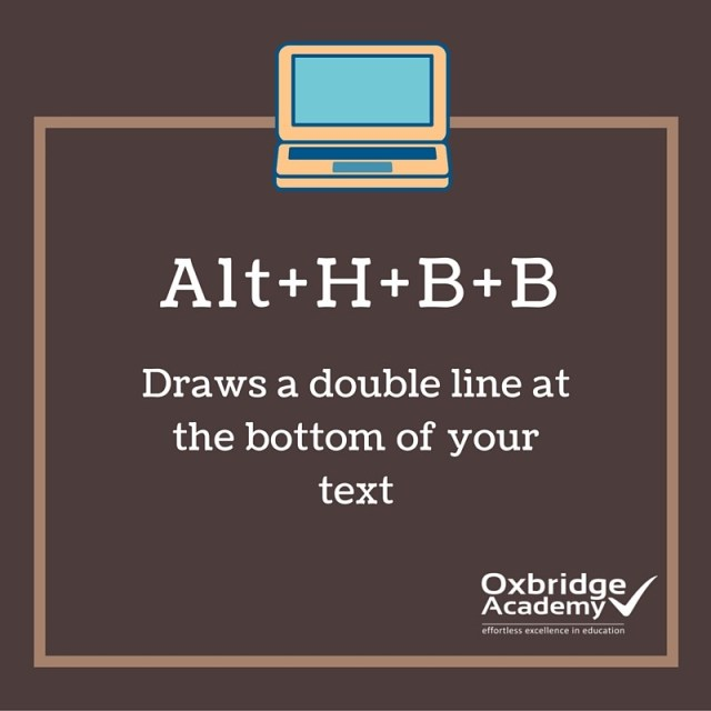 How to draw a double line below your text