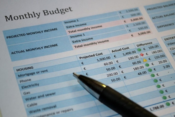 Put together a monthly budget
