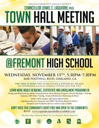 Town Hall Meeting at Fremont High School 11/15 Peralta Colleges Peralta Colleges